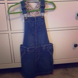 Kids denim jumper dress
